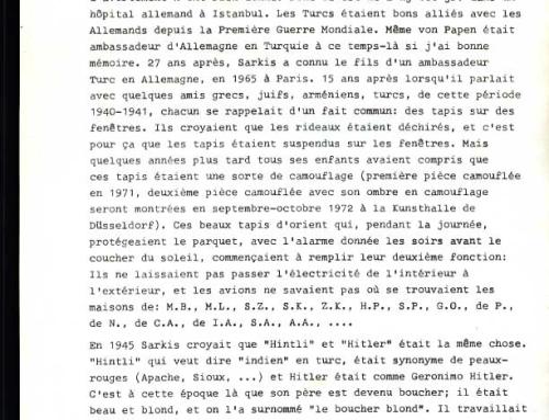 «Opération Organe» (une biographie de Sarkis).