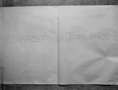 1969, Connaissez-vous Joseph Beuys ?