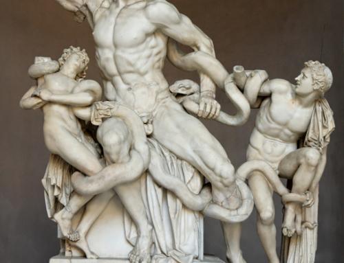 "Agésandros, Athanadros et Polydore : ""Laocoon et ses fils""."