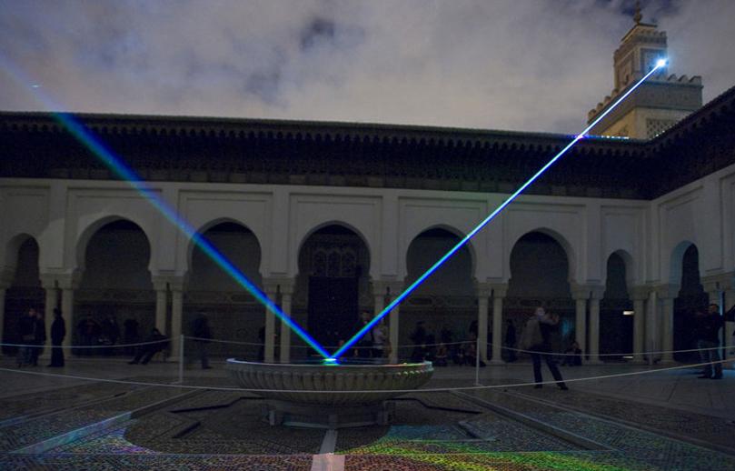 2009, Litanies, Nuit Blanche, La Grande Mosquée de Paris.